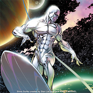 Behold, the Herald of Galactus, the Silver Surfer! ©MARVEL